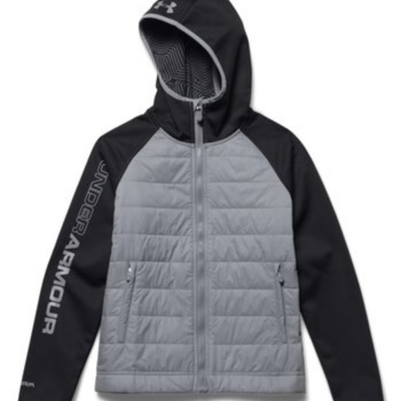 Under Armour ColdGear Boys hooded jacket Sz Small